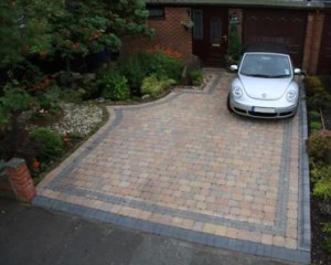 paved driveway front garden